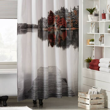 Fall Dock Shower Curtain
