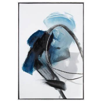 Gel- Embellished Abstract Framed Art