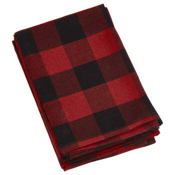 Set of 4 Buffalo Plaid Napkins