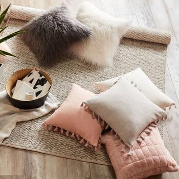 "Naadam Faux Fur Decorative Pillow 19"" X 19"""