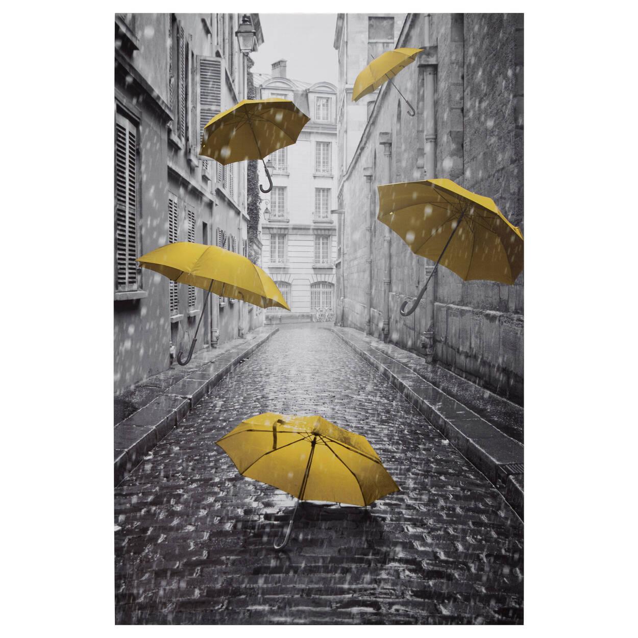 Tableau imprimé parapluies volants