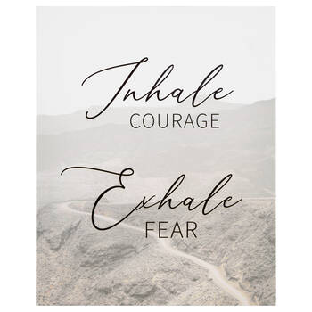 Inhale Exhale Printed Canvas