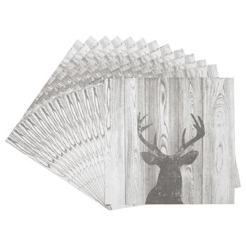 Pack of 20 Deer Shadow Paper Napkins