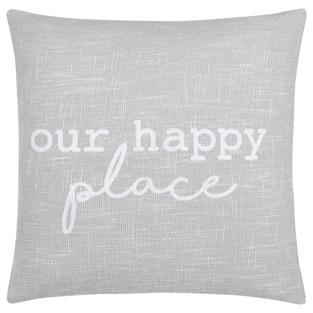 """Coussin décoratif Our happy Place 19"""" X 19"""""""