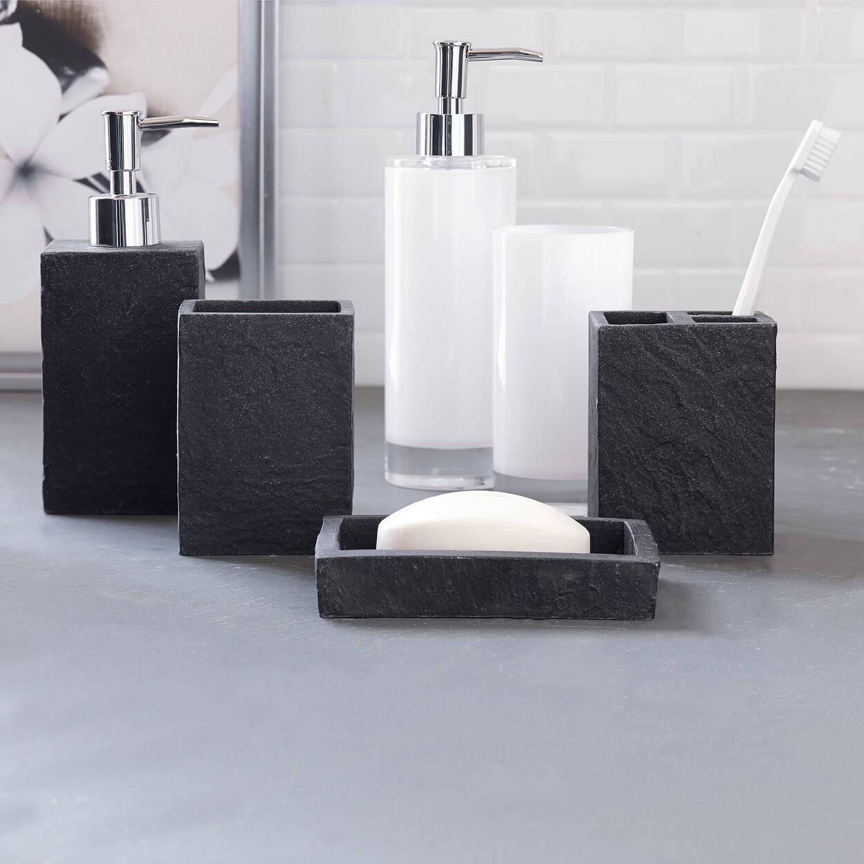 Distributeur de savon for Accessoires de salle de bain bouclair