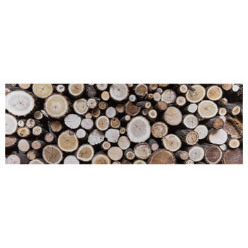 Chopped Wood Logs Printed Canvas