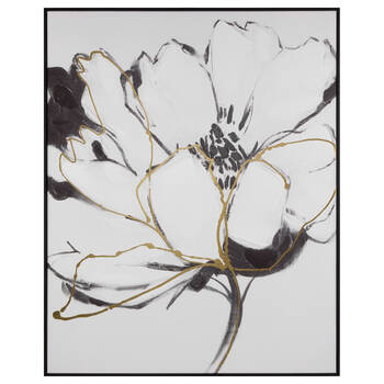 Floral Printed Canvas with Gold Gel Embellishments