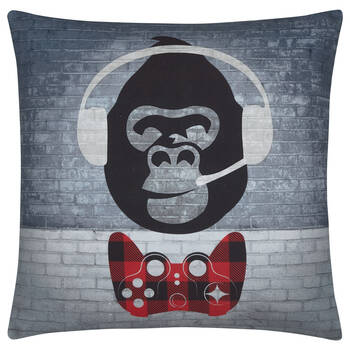 "Gorilla Gamer Decorative Pillow 18"" x 18"""