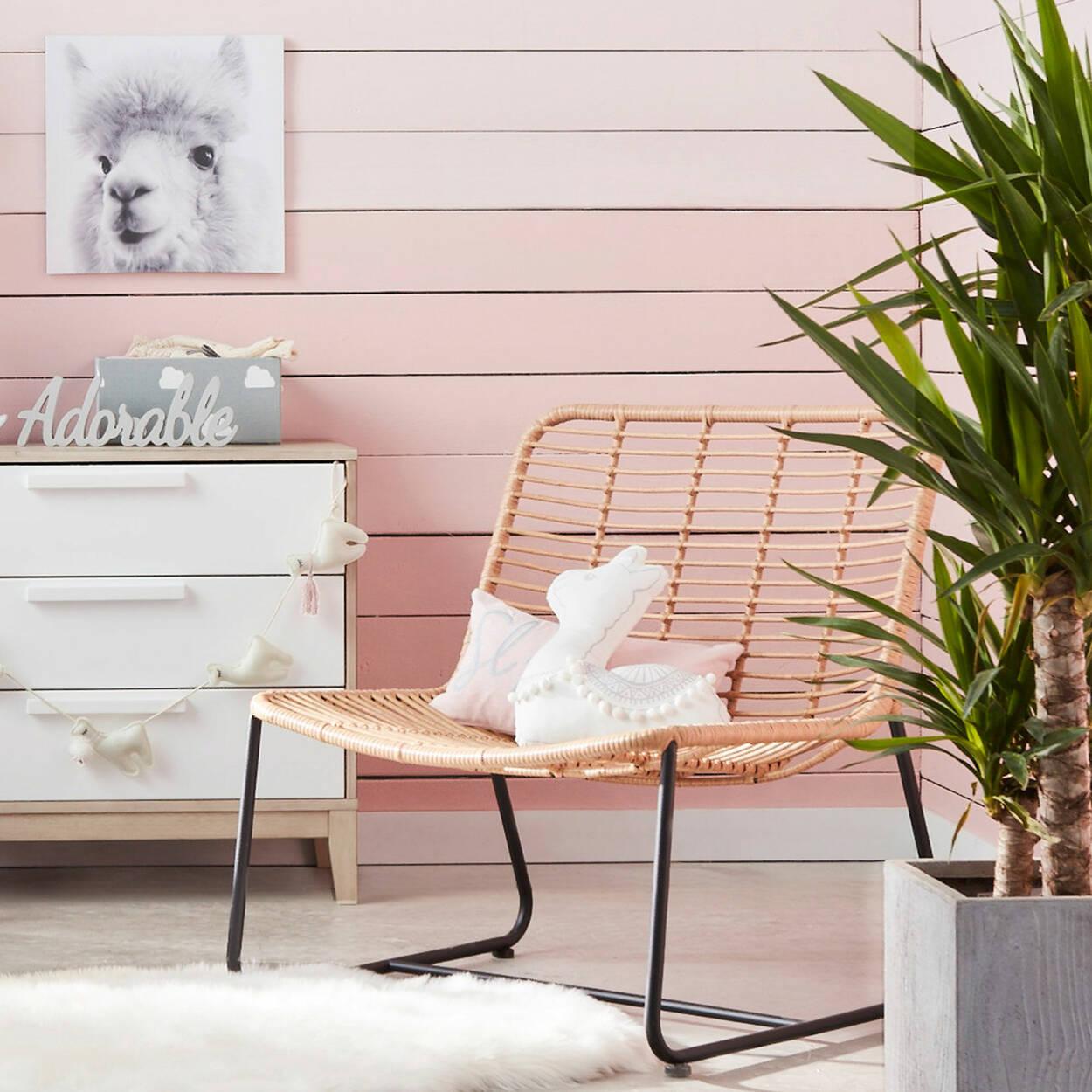petit panier de rangement motif de nuages. Black Bedroom Furniture Sets. Home Design Ideas