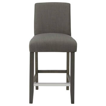Fabric and Rubberwood Bar Stool