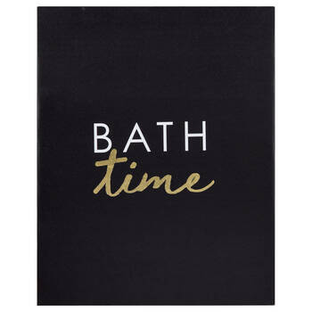 Bath Time Printed Canvas