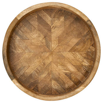 Round Mango Wood Tray