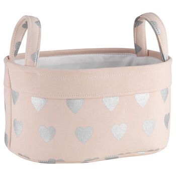 Medium Heart Pattern Storage Basket