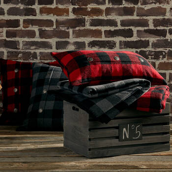 "Lewis Plaid Throw 50"" X 60"""