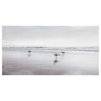 Seagulls on Beach Printed Canvas