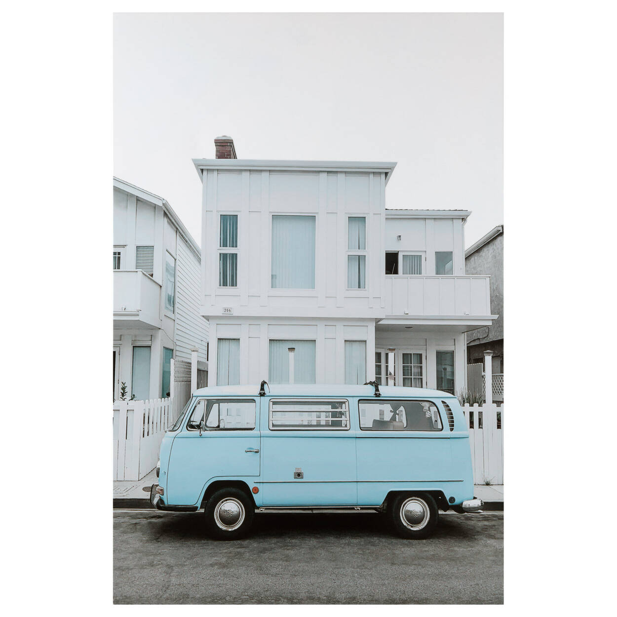 Baby Blue Van Printed Canvas