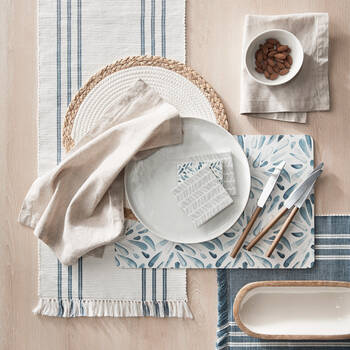 Ribbed Cotton Table Runner