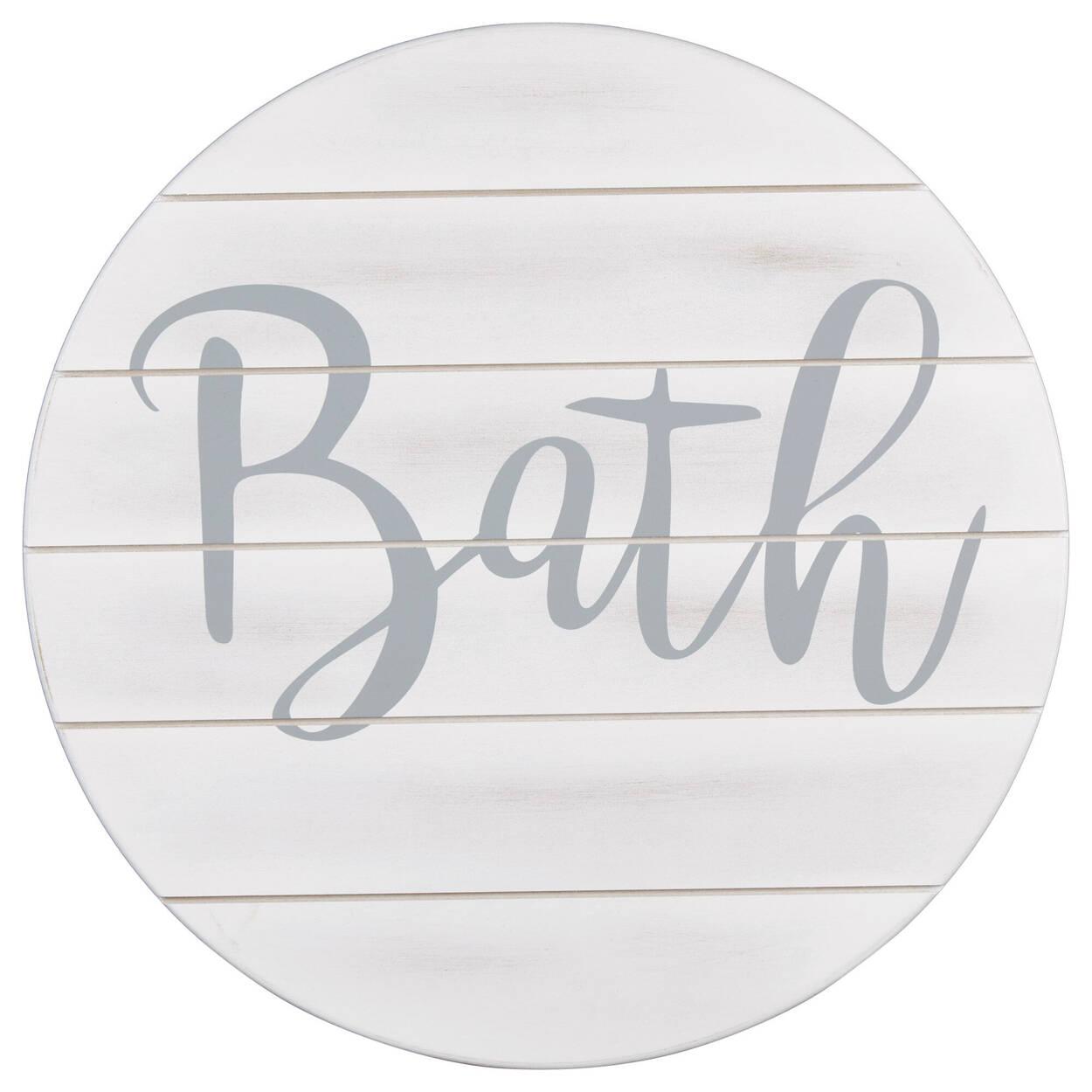 Bath Wood Wall Art