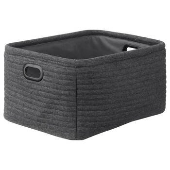 Ribbed Storage Basket With Handles