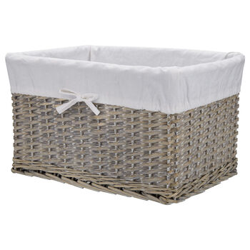 Medium Wicker Basket with Lining