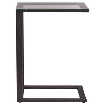 Glass and Metal Side Table