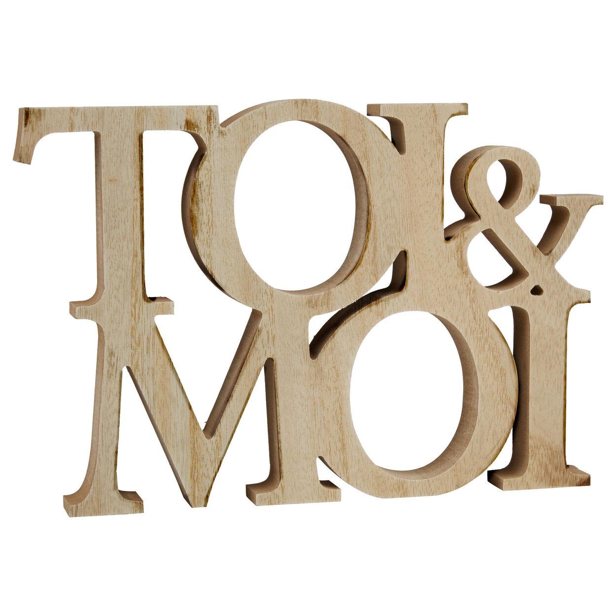 Decorative Words Toi & Moi