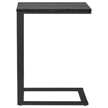 Table d'appoint en bois plaqué et en métal
