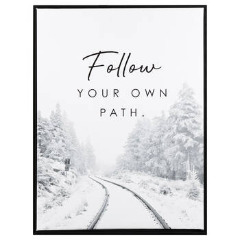 Follow Your Own Path Framed Printed Canvas
