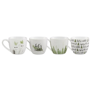 Set of 4 Ceramic Mugs