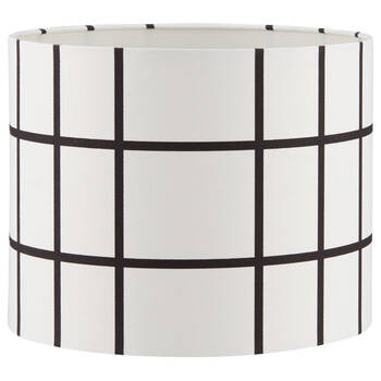 Plaid linen lamp shade