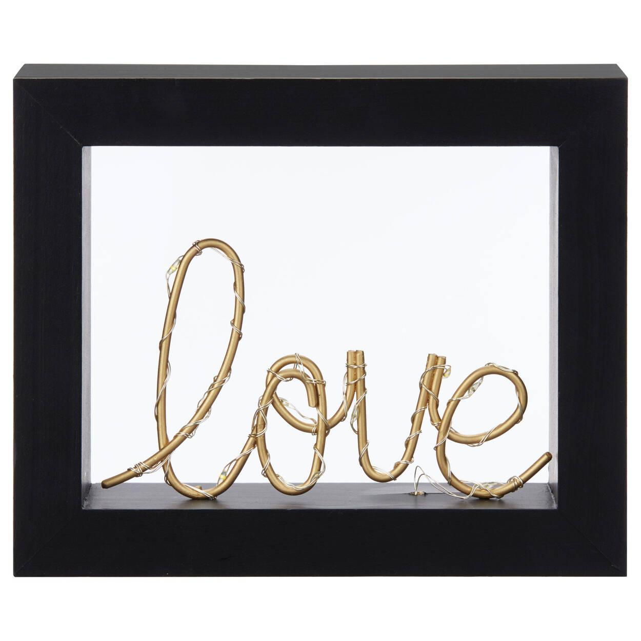 LED Love Word In Frame