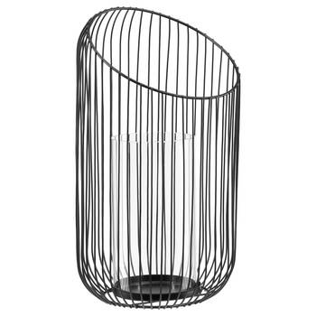 Metal Wire and Glass Candle Holder