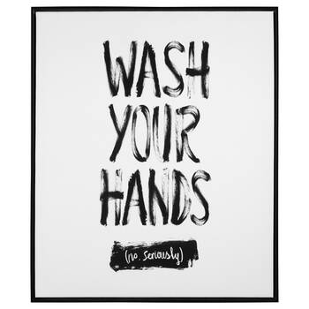 Wash Your Hands Typography Framed Art