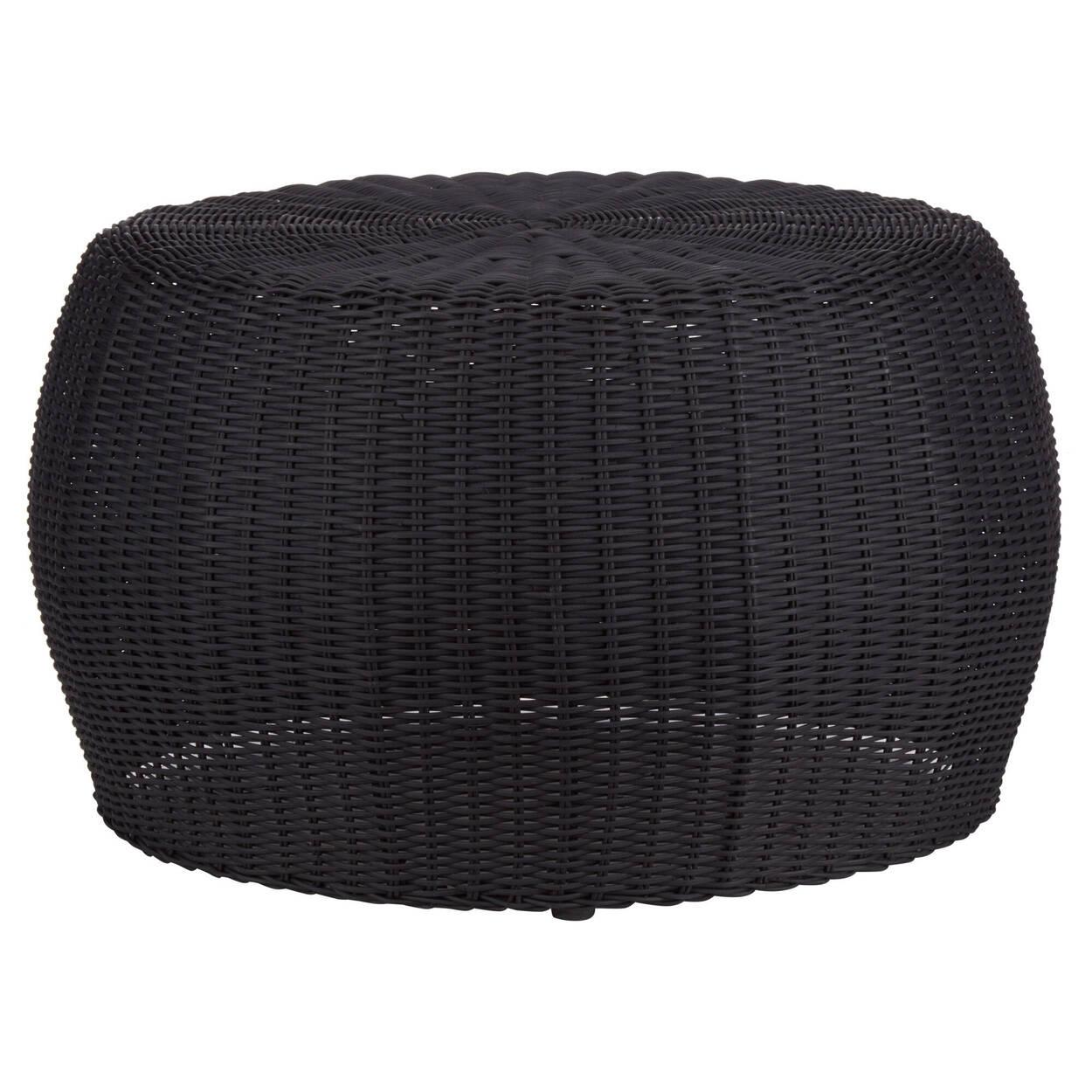 Table basse noire tissée