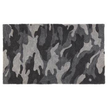 Tapis camouflage noir et gris