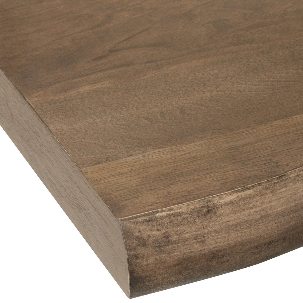 Live Edge Poplar Wood and MDF Dining Table