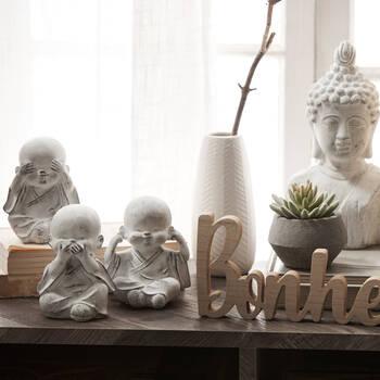 Statuettes des Buddha de la sagesse en ciment