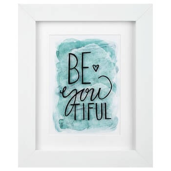 Be You Tiful Typography Framed Art
