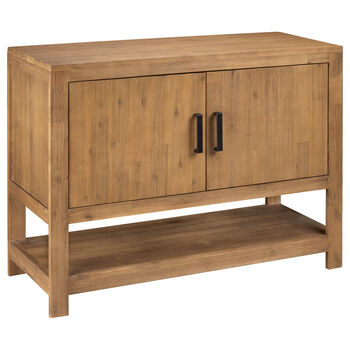 Two-Door Wooden Buffet With Shelf