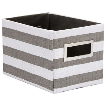 Small Striped Storage Basket