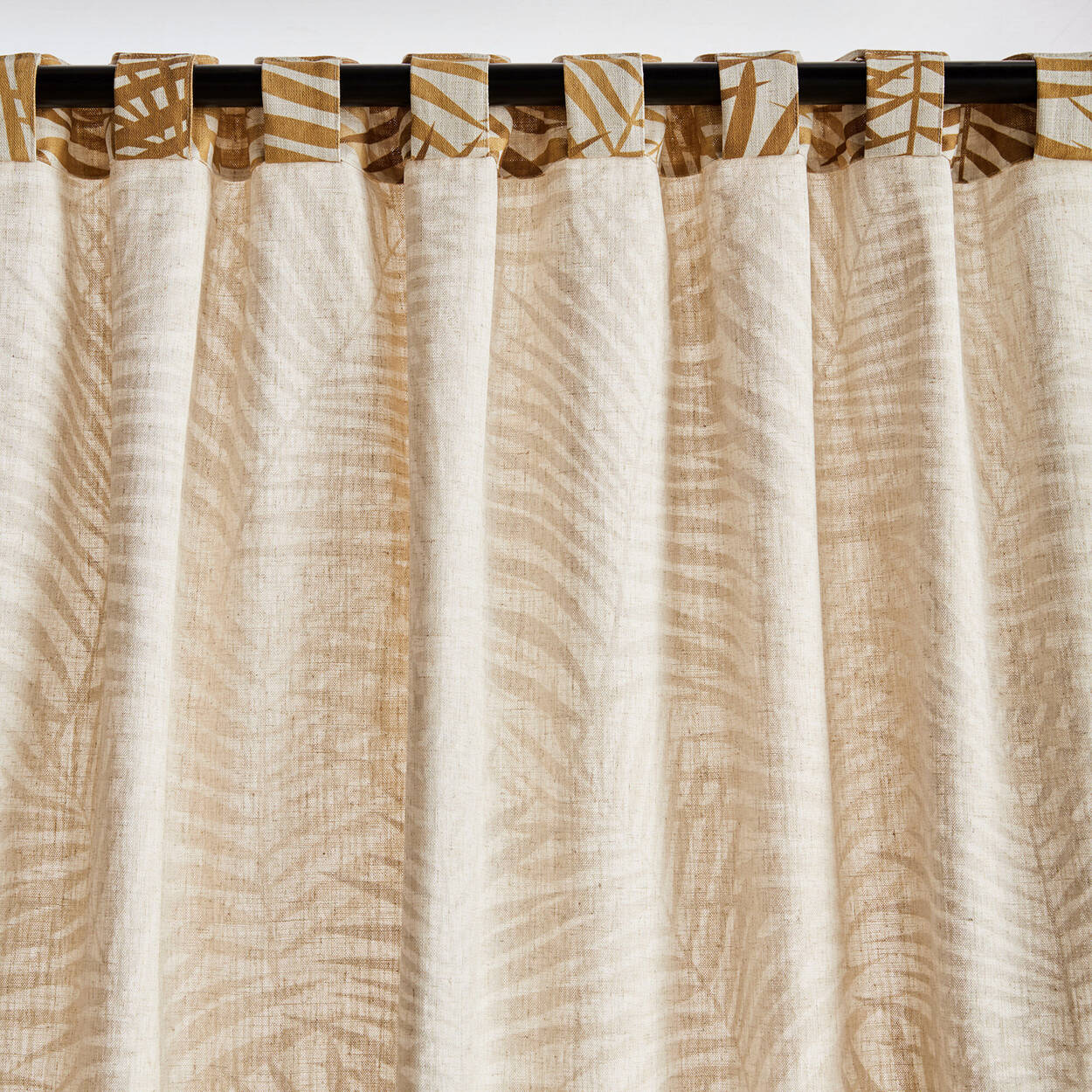 Nicole Ochre Foliage Curtain