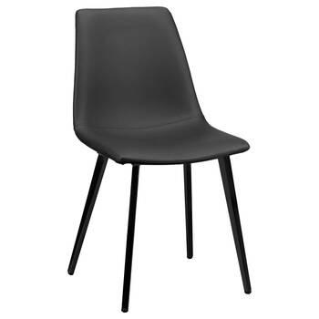 Chaise de salle à manger en similicuir et en métal