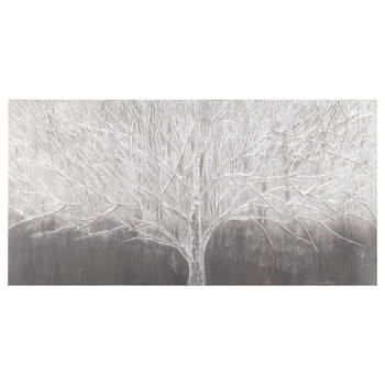 Textured Frosted Tree Oil Painting