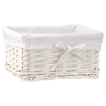 Willow Storage Basket with Lining