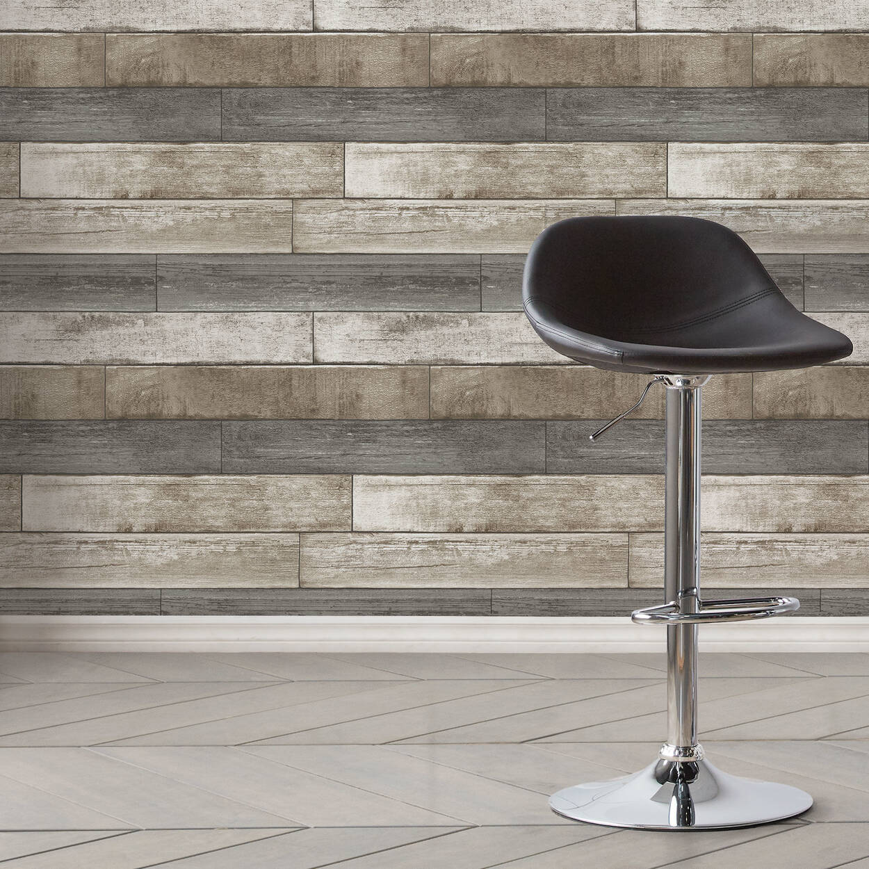 Weathered Plank Wallpaper - Double Roll