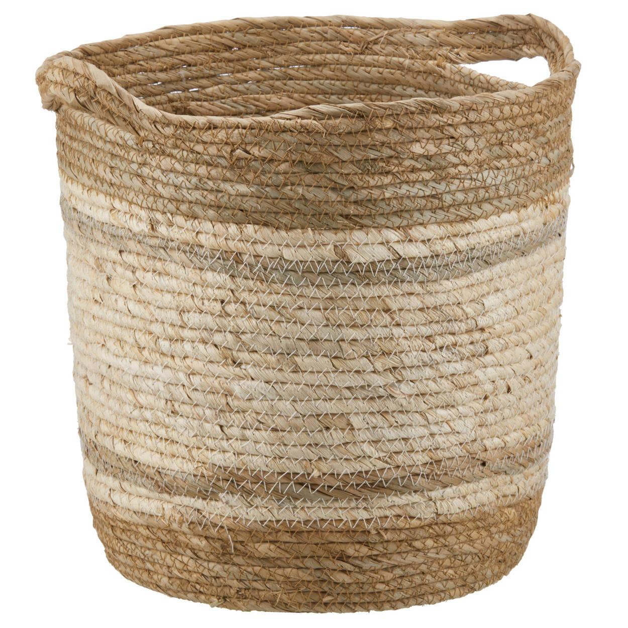 Panier de rangement en fibre de maïs 2 tons
