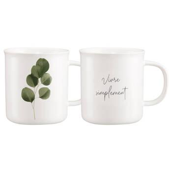 Set of 2 Mugs Ecalyptus and Writing