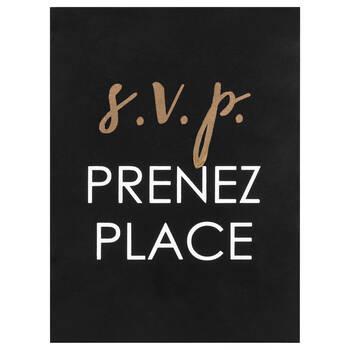 Bloc décoratif bilingue Prenez place