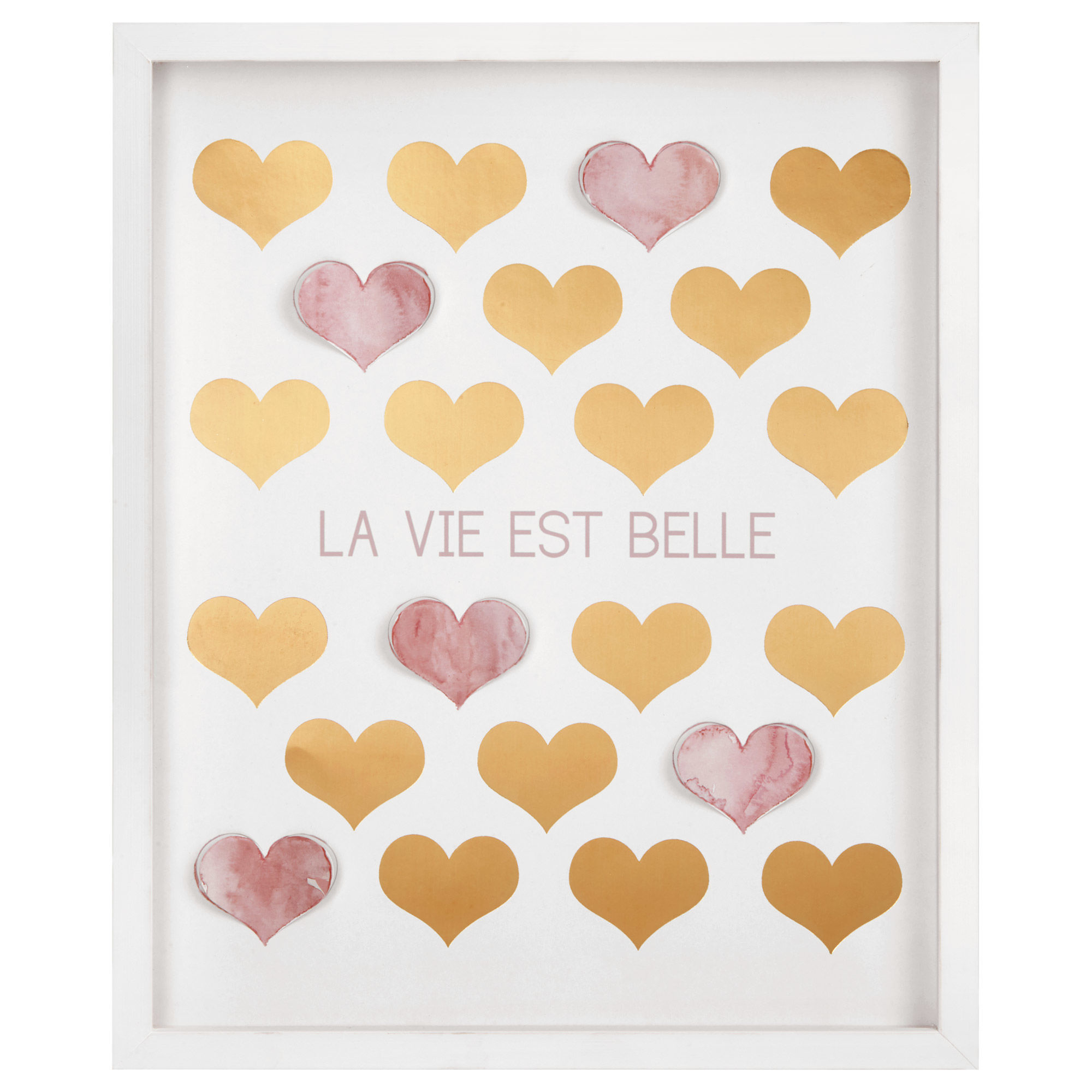 La Vie Est Belle Wall Shadow Box ...