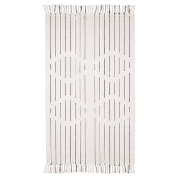 Black and White Patterned Rug